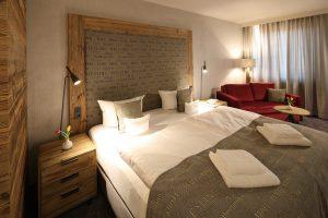 Auf dem Bild ist ein Zimmer des Hotel Nägler's zu sehen.