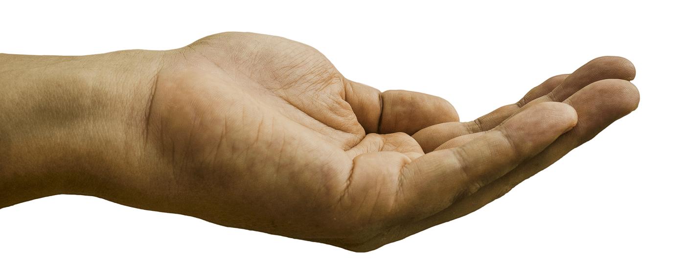 Auf dem Bild ist eine Hand abgebildet. Die Fünf-Finger-Methode, lernen Sie aus Ihrer Hand zu lesen.