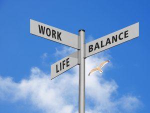 Work-Life-Balance Schild