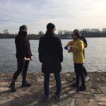 Teilnehmerinnen Idogo am Rheinufer