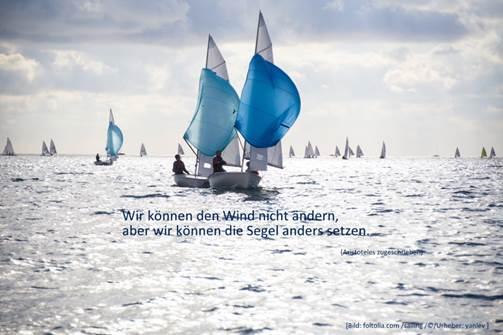 """Segelschiffe mit Zitat Aristoteles zum Thema Unabhängigkeit und """"Wenn ich groß bin mache ich was ich will"""""""